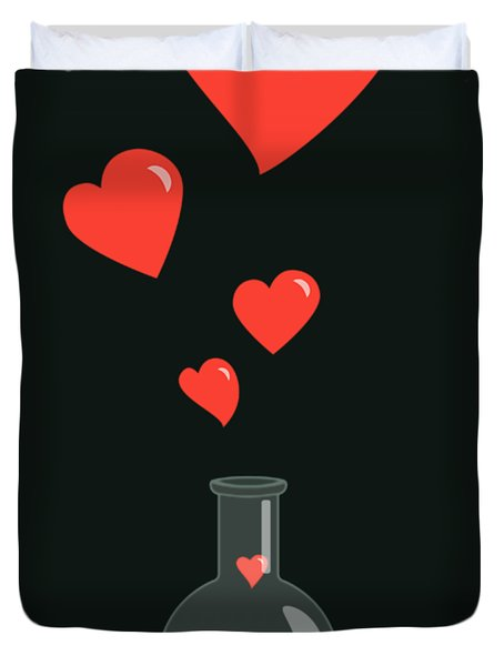 Flask Of Hearts Duvet Cover
