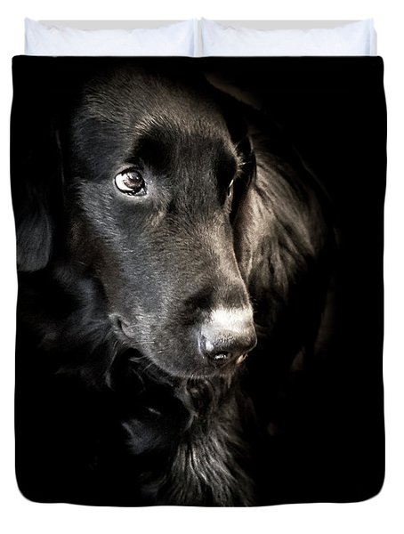 Flat Coated Retriever Duvet Cover