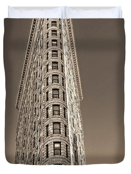 Flat Iron Building New York City Duvet Cover