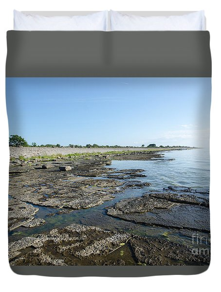 Flat Rock Limestone Coast Duvet Cover