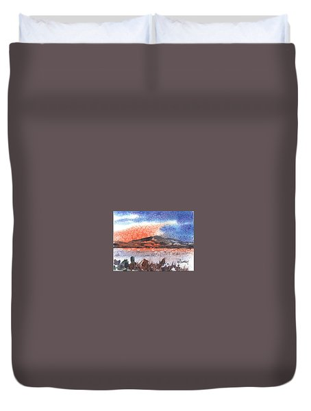 Flathead Lake Montana Duvet Cover by Kevin Heaney