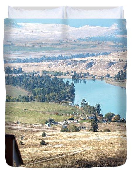 Flathead River 4 Duvet Cover by Janie Johnson