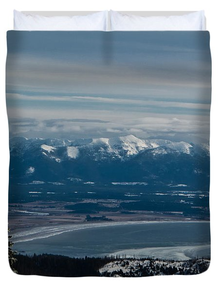 Flathead Valley In The Winter Duvet Cover