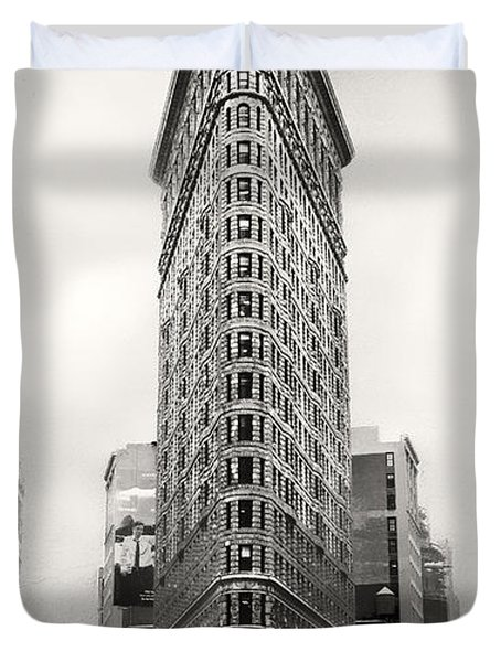 Flatiron District Rush Hour Duvet Cover