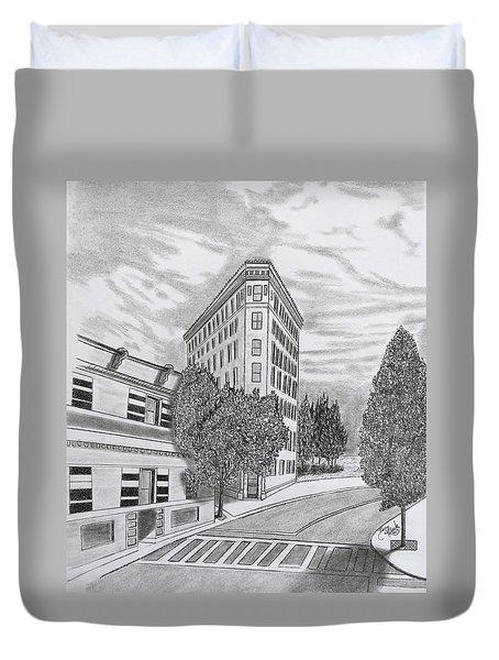 Flatiron In Asheville  Duvet Cover