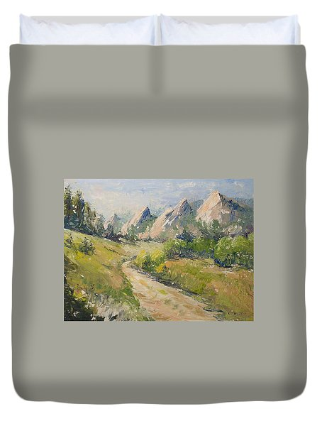 Flatirons In The Rockies Duvet Cover