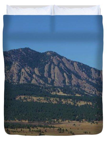 Flatirons Of Boulder Duvet Cover