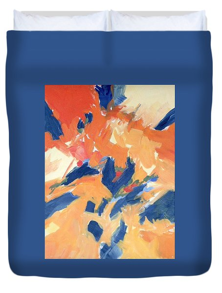 Fleeing Crows Duvet Cover