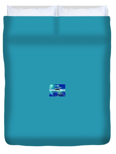 Fleet Aqua Duvet Cover