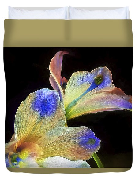 Fleeting Flowers Duvet Cover