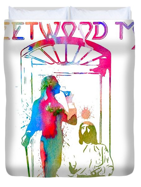 Fleetwood Mac Album Cover Watercolor Duvet Cover