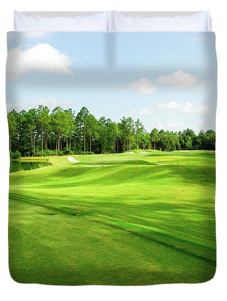 Fleming Island Golf Club Duvet Cover