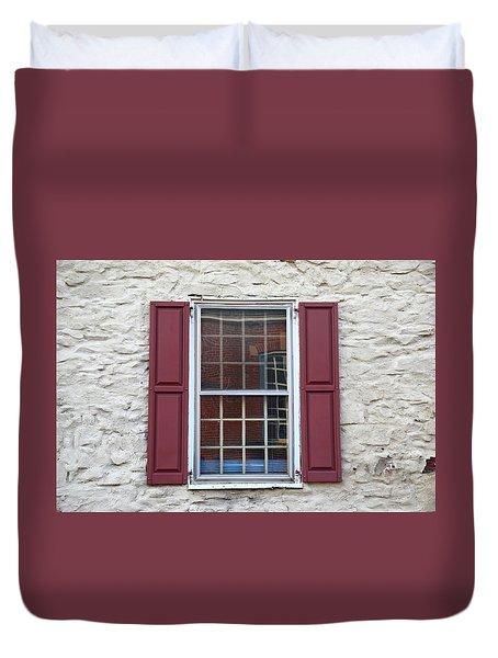 Duvet Cover featuring the photograph Flemington, Nj - Side Shop Window by Frank Romeo