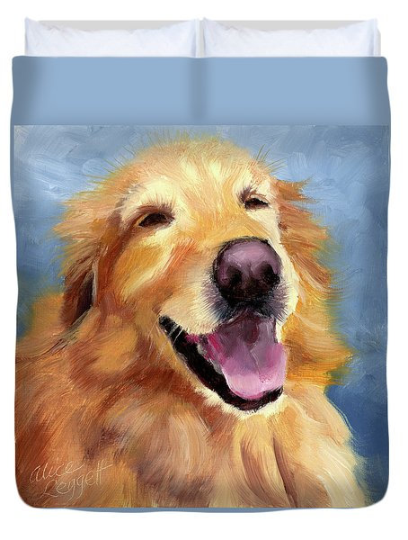 Fletcher Laughing Duvet Cover