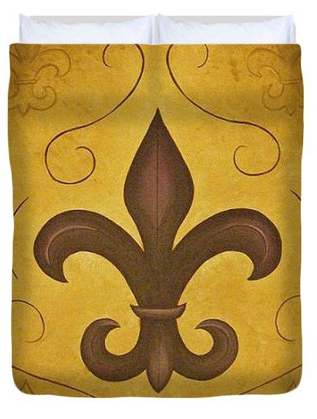 Fleur De Lis II Duvet Cover