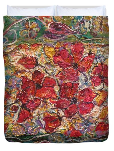 Fleur De Mon Ami Duvet Cover