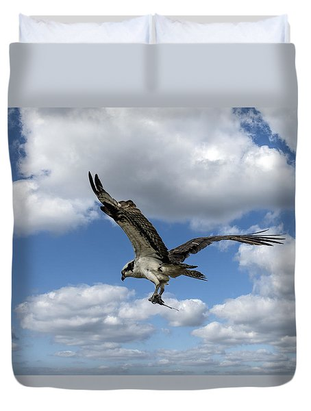 Flight Among The Clouds Duvet Cover