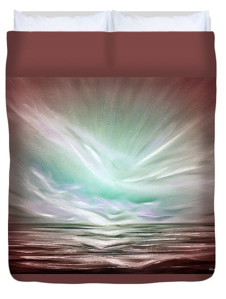 Flight At Sunset - Abstract Sunset Duvet Cover