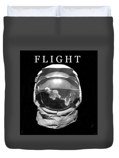 Duvet Cover featuring the photograph Flight by David Lee Thompson