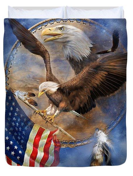 Flight For Freedom Duvet Cover by Carol Cavalaris