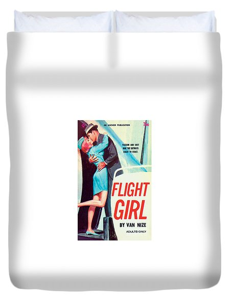 Flight Girl Duvet Cover