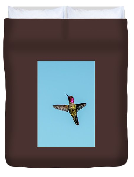 Flight Of A Hummingbird Duvet Cover
