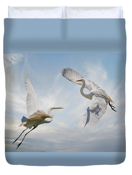 Duvet Cover featuring the photograph Flight Of Fancy by Brian Tarr