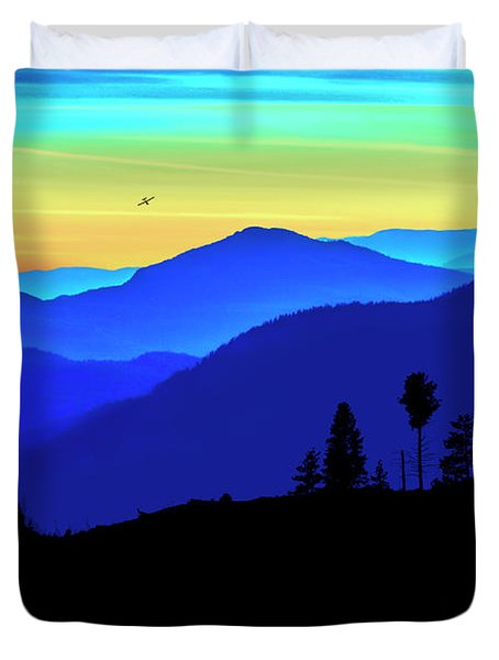 Duvet Cover featuring the photograph Flight Of Fancy by John Poon