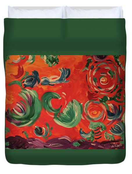 Flight Of Lotus Duvet Cover