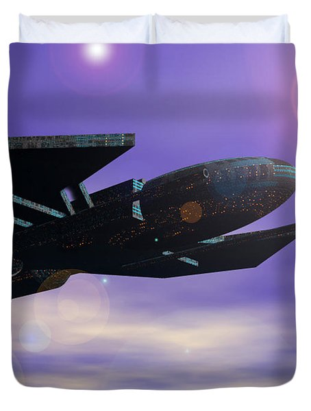 Duvet Cover featuring the digital art Flight Of The 501st Phoenix by Curtiss Shaffer