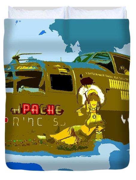 Flight Of The Apache Princess Duvet Cover by David Lee Thompson