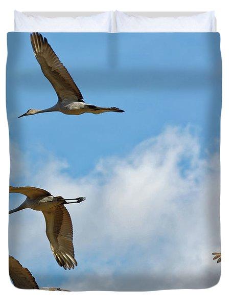 Flight Of The Cranes Duvet Cover