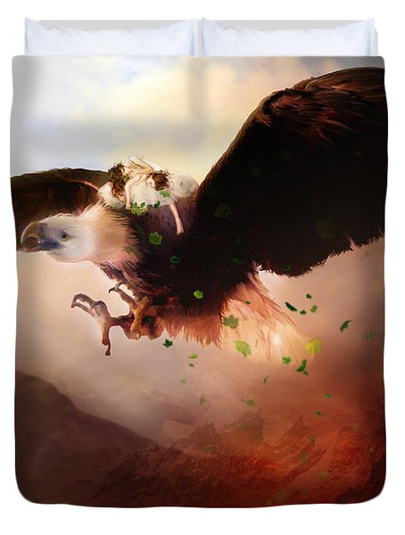 Flight Of The Eagle Duvet Cover by Mary Hood