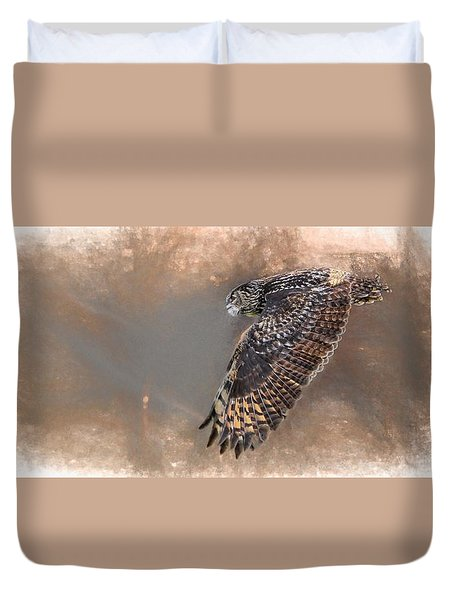Flight Of The Eagle Owl Duvet Cover
