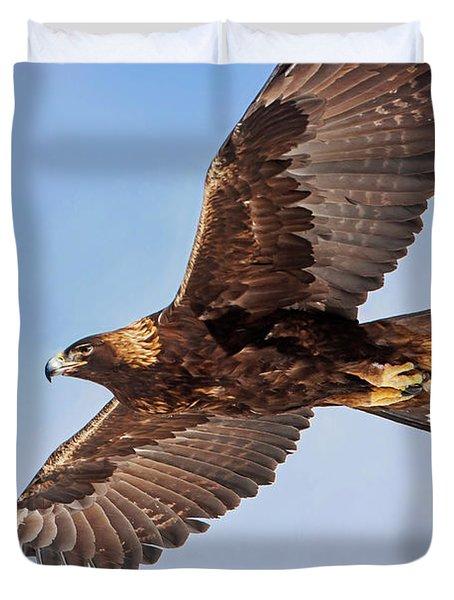 Flight Of The Golden Eagle Duvet Cover