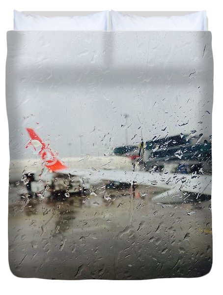 Flight Rain Duvet Cover
