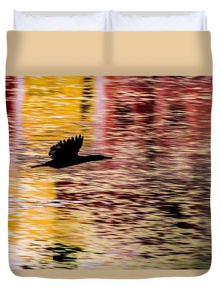 Flight To Solitude Duvet Cover by Ramabhadran Thirupattur