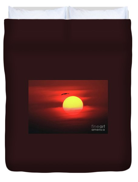Flight To The Sun Duvet Cover