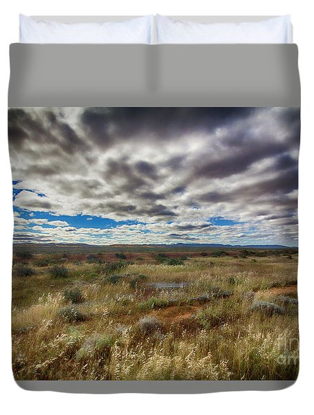 Flinders Ranges Fields  Duvet Cover by Douglas Barnard