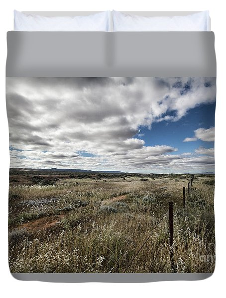 Flinders Ranges Fields V2 Duvet Cover by Douglas Barnard