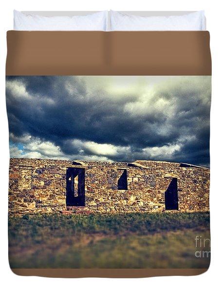 Duvet Cover featuring the photograph Flinders Ranges Ruins V2 by Douglas Barnard