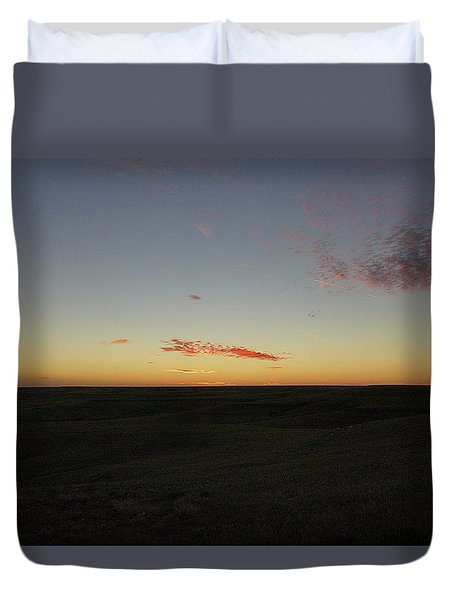 Flint Hills Dusk Duvet Cover by Thomas Bomstad