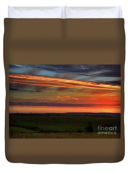 Flint Hills Sunrise Duvet Cover