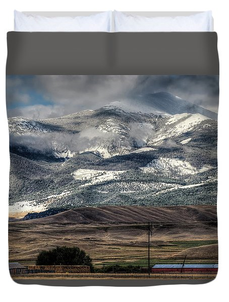 Flint Ridge Range, Deer Lodge, Mt Duvet Cover