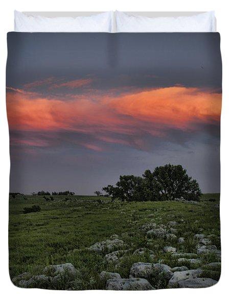 Flinthills Sunset Duvet Cover