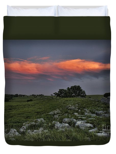 Flinthills Sunset Duvet Cover