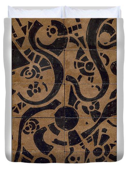 Flipside 1 Panel D Duvet Cover