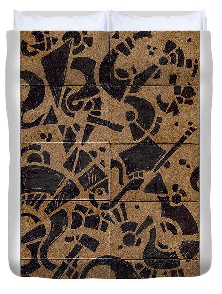 Flipside 1 Panel E Duvet Cover