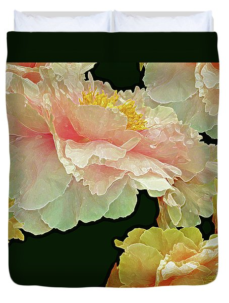 Floating Bouquet 31 Duvet Cover by Lynda Lehmann