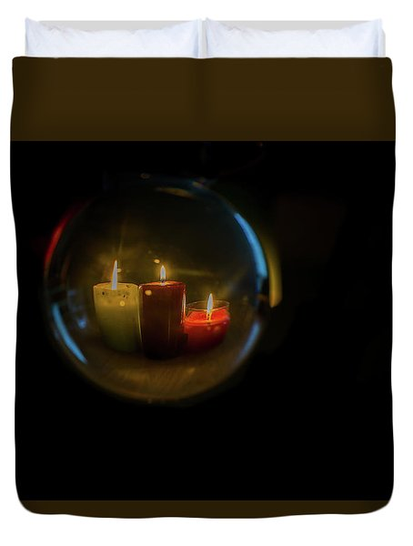 Floating Candles Duvet Cover